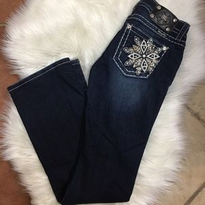 Dark wash miss me jeans